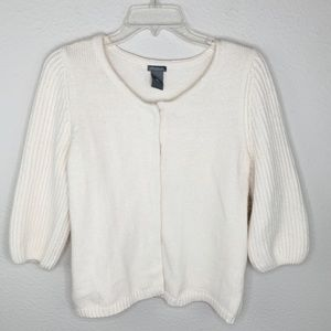 Ann Taylor Angora Balloon Sleeve Sweater E316